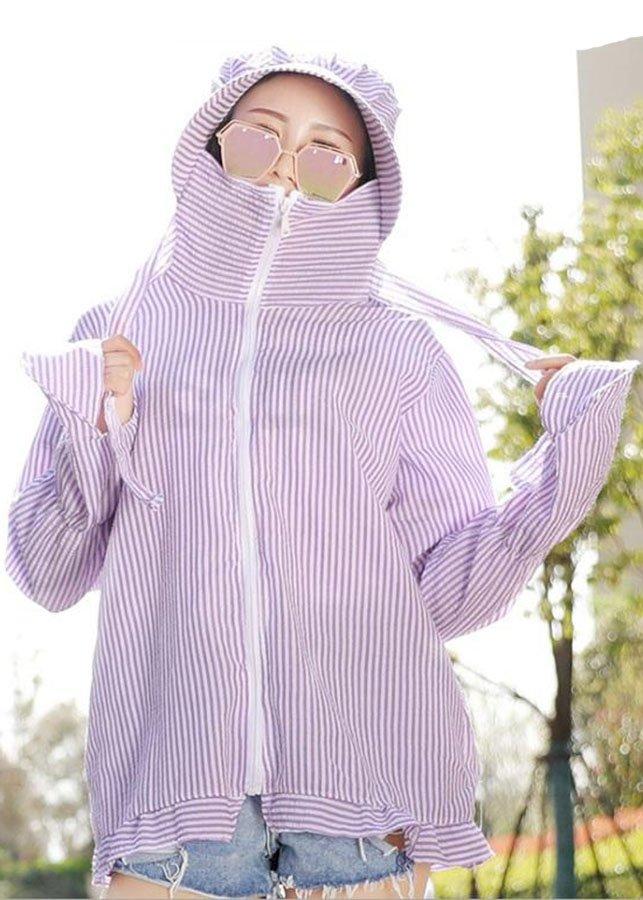 Áo khoác nhẹ chống nắng liền mũ chùm đầu