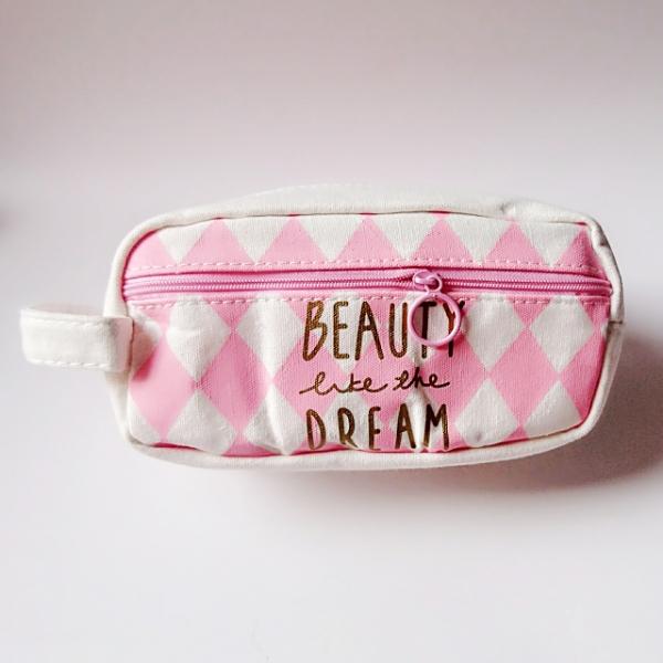 Combo Túi ví hộp bút Beauty like your dream + tặng 01 quyển sổ tay