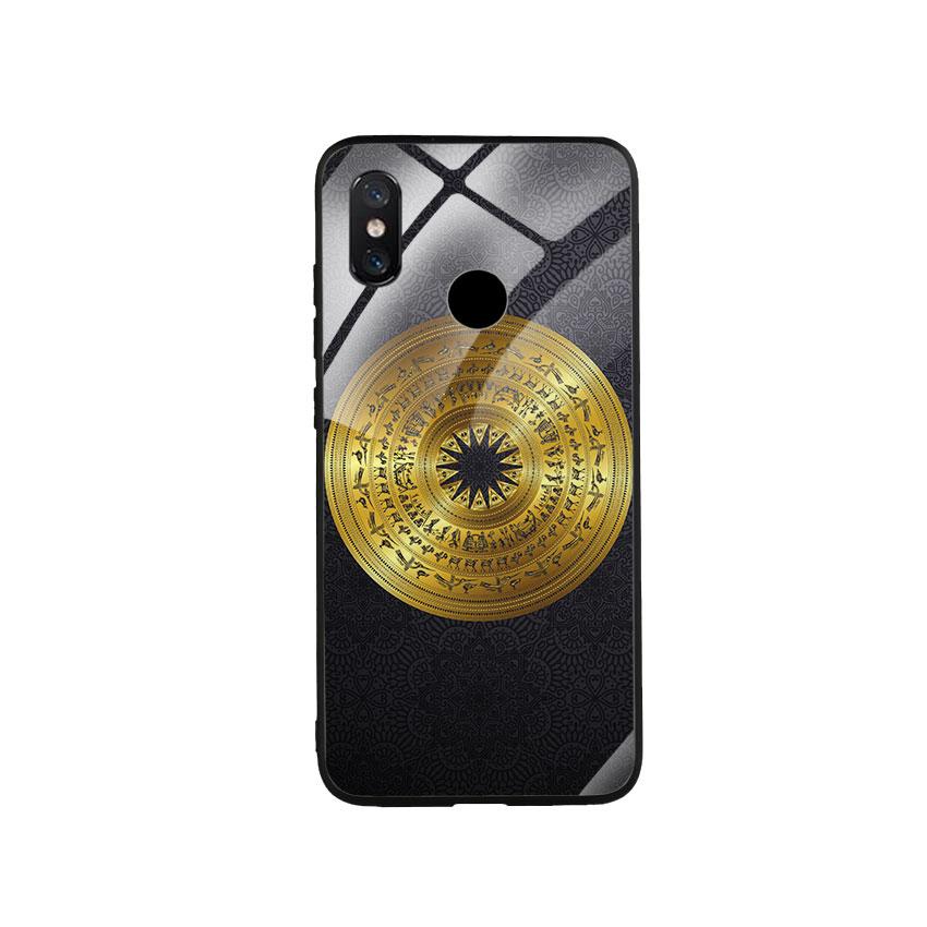 Ốp Lưng Kính Cường Lực cho điện thoại Xiaomi Mi 8 - Trống Đồng 05