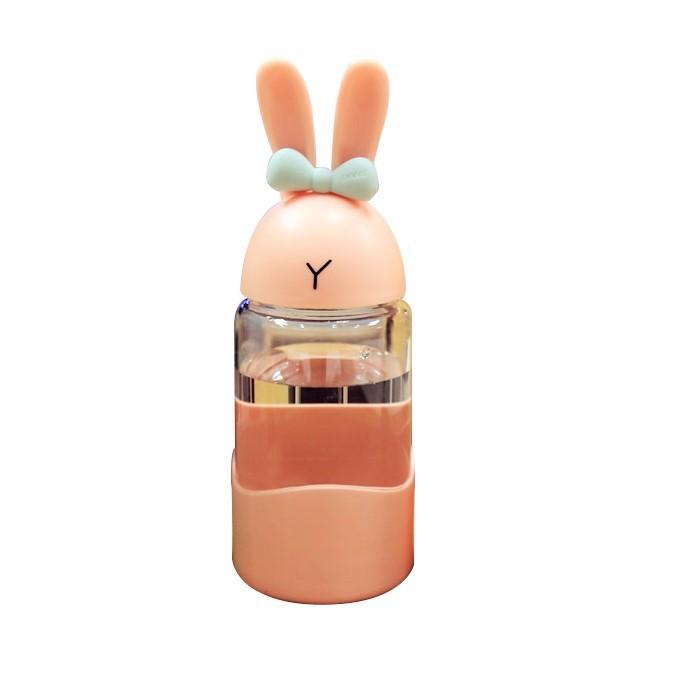 Ly thủy tinh thỏ ảo thuật 340ml phong cách Hàn Quốc - MINIGOOD EM027
