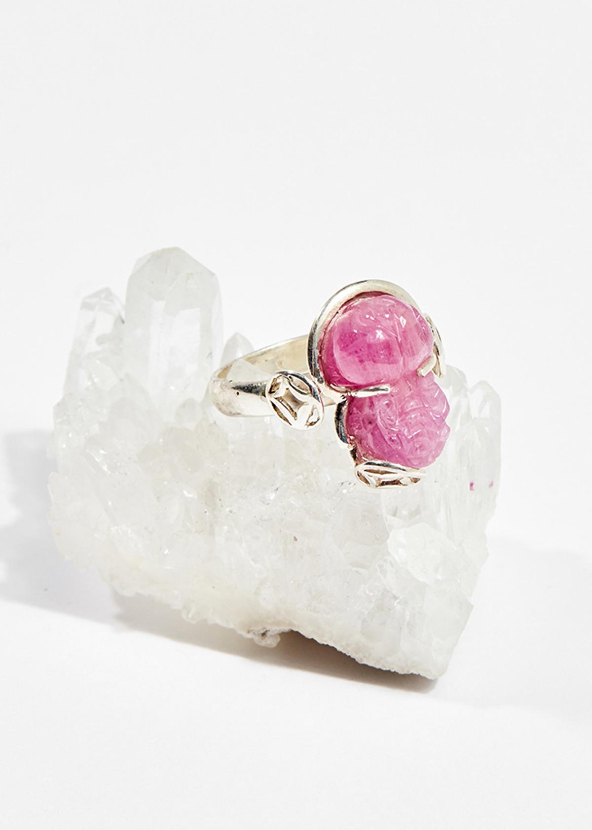 Nhẫn bạc tỳ hưu ruby ni16 mệnh hỏa ,thổ - Ngọc Quý Gemstones