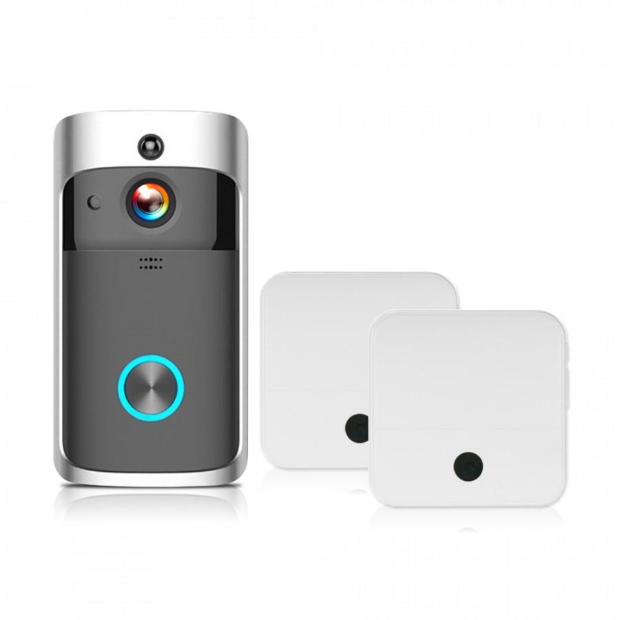 WiFi Smart Wireless Security DoorBell Smart HD 1080P Visual Intercom Recording Video Door Phone Remote Home Monitoring - 2372640 , 5845495374541 , 62_15562897 , 1398000 , WiFi-Smart-Wireless-Security-DoorBell-Smart-HD-1080P-Visual-Intercom-Recording-Video-Door-Phone-Remote-Home-Monitoring-62_15562897 , tiki.vn , WiFi Smart Wireless Security DoorBell Smart HD 1080P Visu