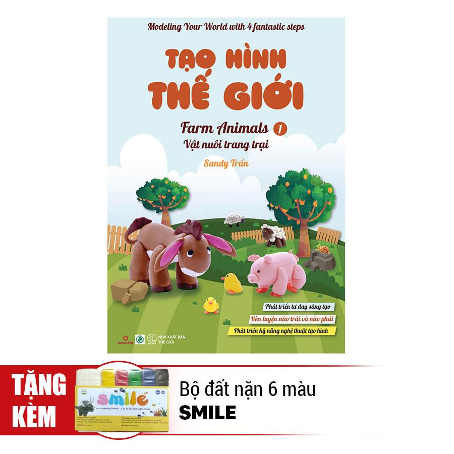 Tạo Hình Thế Giới - Vật Nuôi Trang Trại 1 (Kèm 1 Bộ Đất Nặn 6 Màu Smile) - 891381 , 2743545562869 , 62_1563947 , 48000 , Tao-Hinh-The-Gioi-Vat-Nuoi-Trang-Trai-1-Kem-1-Bo-Dat-Nan-6-Mau-Smile-62_1563947 , tiki.vn , Tạo Hình Thế Giới - Vật Nuôi Trang Trại 1 (Kèm 1 Bộ Đất Nặn 6 Màu Smile)