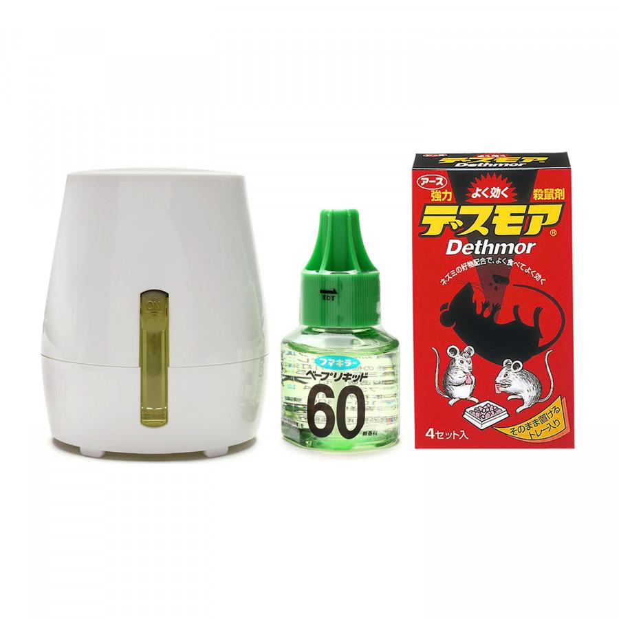 Combo Thuốc diệt chuột dạng viên + Máy đuổi muỗi, côn trùng kèm tinh dầu nội địa Nhật Bản - 1451723 , 4990595050534 , 62_8441494 , 750000 , Combo-Thuoc-diet-chuot-dang-vien-May-duoi-muoi-con-trung-kem-tinh-dau-noi-dia-Nhat-Ban-62_8441494 , tiki.vn , Combo Thuốc diệt chuột dạng viên + Máy đuổi muỗi, côn trùng kèm tinh dầu nội địa Nhật Bản
