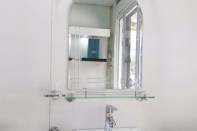 Kệ Gương Phòng Tắm Inox 304 Cao Cấp (Kính Cường Lực PE37 - 600mm) (600 x 120 x 10 mm)