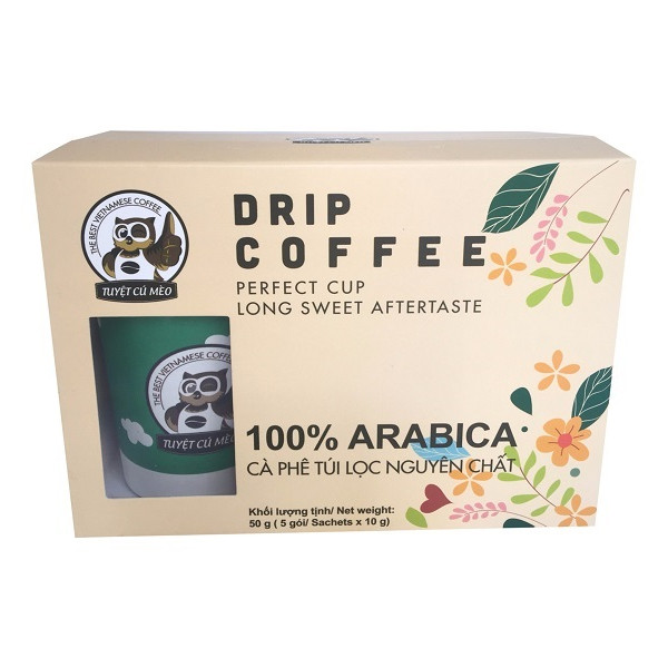Cà phê túi lọc nguyên chất 100% Arabica DakMark