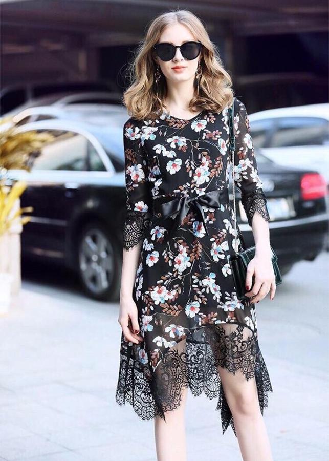Đầm Nữ Suông Hoa Tay Cách Điệu BY4316