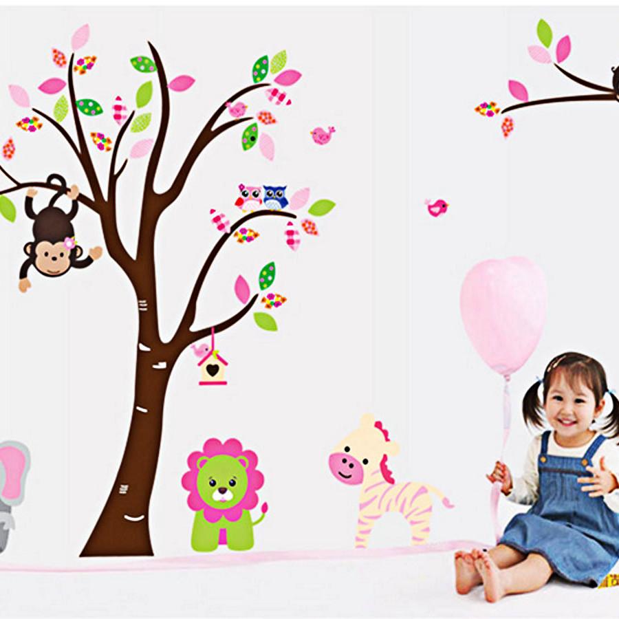 Decal dán tường cho bé vườn thú hồng 2 mảnh ngộ nghĩnh ay216 - 7586258 , 1956044927324 , 62_16871370 , 150000 , Decal-dan-tuong-cho-be-vuon-thu-hong-2-manh-ngo-nghinh-ay216-62_16871370 , tiki.vn , Decal dán tường cho bé vườn thú hồng 2 mảnh ngộ nghĩnh ay216