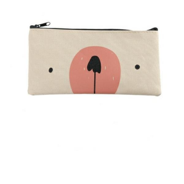 Túi ví hộp bút hình Gấu (giao màu ngẫu nhiên)