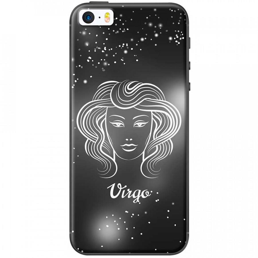 Ốp lưng  dành cho iPhone 5, iPhone 5s mẫu Cung hoàng đạo Virgo (đen)
