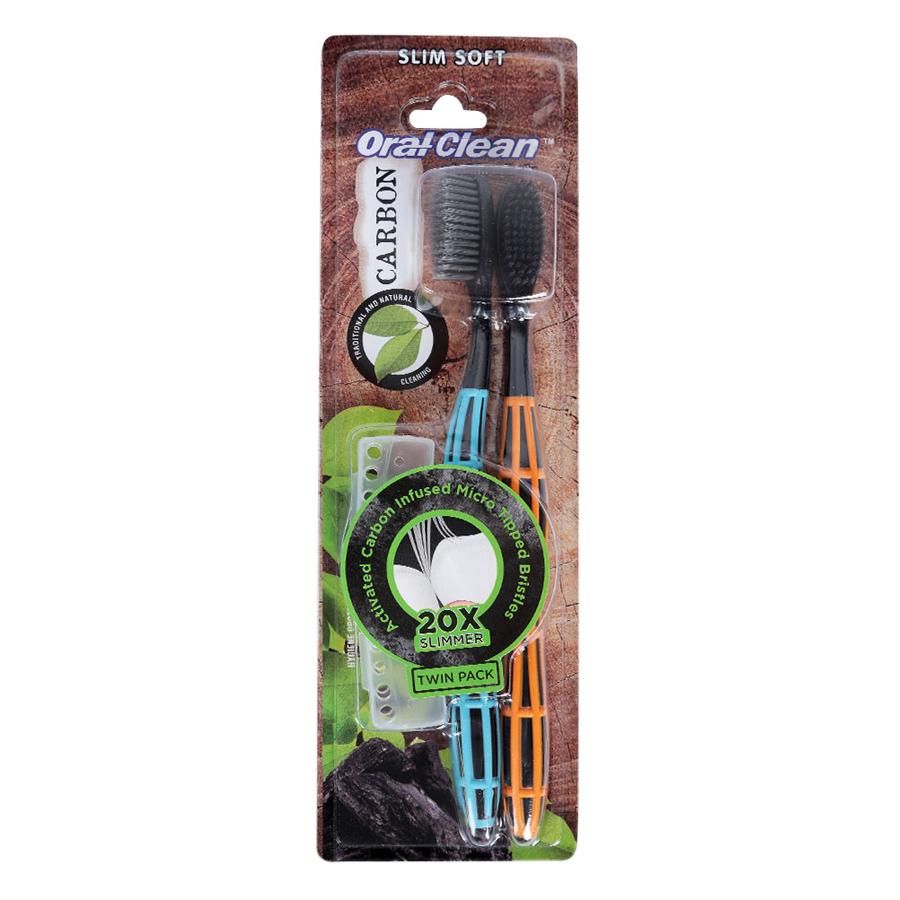 Combo 2 Bàn Chải Đánh Răng Oral - Clean Carbon Slim Soft - 1100275 , 8859219481269 , 62_4051815 , 59000 , Combo-2-Ban-Chai-Danh-Rang-Oral-Clean-Carbon-Slim-Soft-62_4051815 , tiki.vn , Combo 2 Bàn Chải Đánh Răng Oral - Clean Carbon Slim Soft