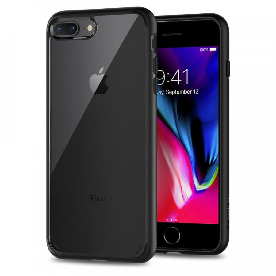 Ốp lưng cho iPhone 8 Plus / 7 Plus Spigen Ultra hybrid 2 (Đen) - Hàng Chính Hãng