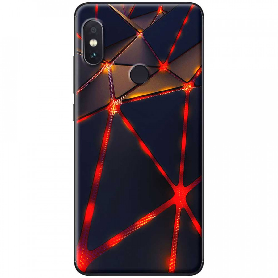Ốp lưng dành cho Xiaomi Redmi Note 6 mẫu Tam giác đỏ đen