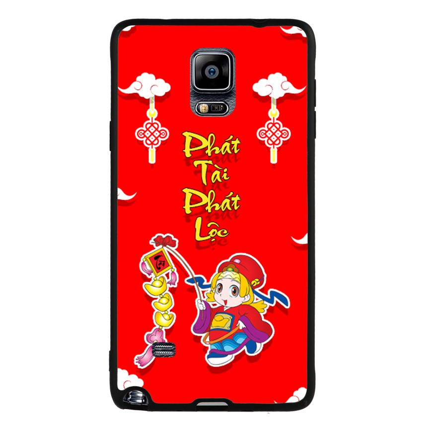 Ốp Lưng Viền TPU cho điện thoại Samsung Galaxy Note 4 -Thần Tài 03