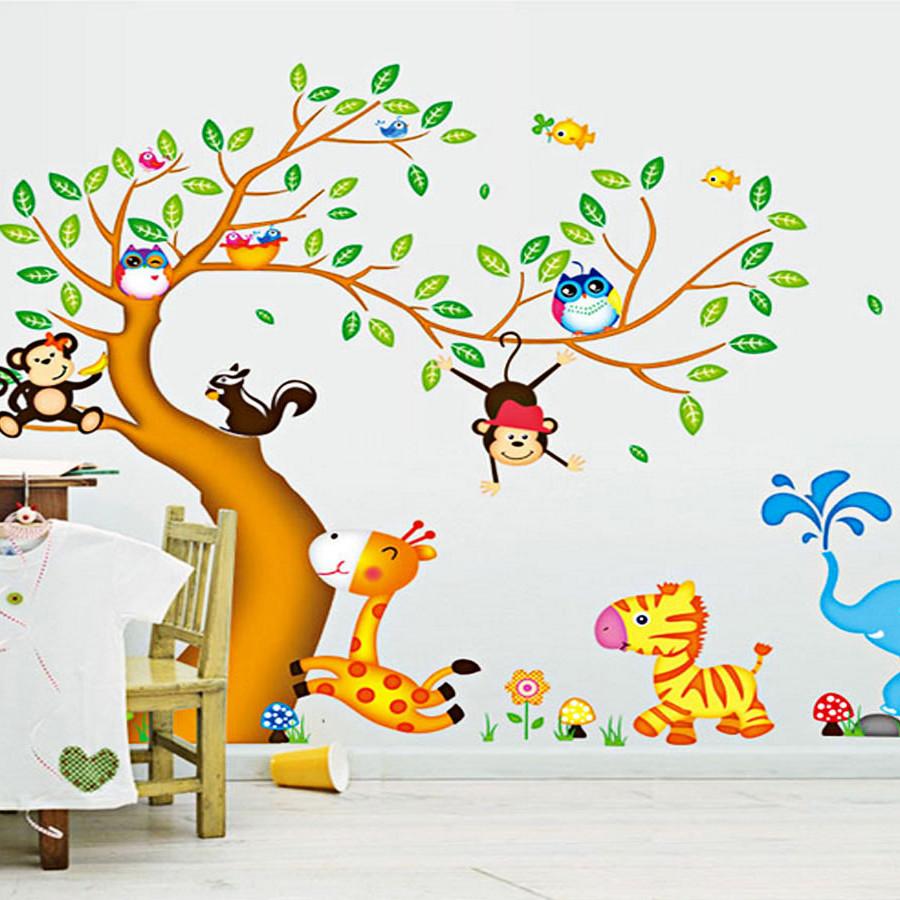 decal dán tường cho bé thú hoạt hình và cây ngộ nghĩnh ay242 - 7583383 , 9737392335724 , 62_16830501 , 150000 , decal-dan-tuong-cho-be-thu-hoat-hinh-va-cay-ngo-nghinh-ay242-62_16830501 , tiki.vn , decal dán tường cho bé thú hoạt hình và cây ngộ nghĩnh ay242
