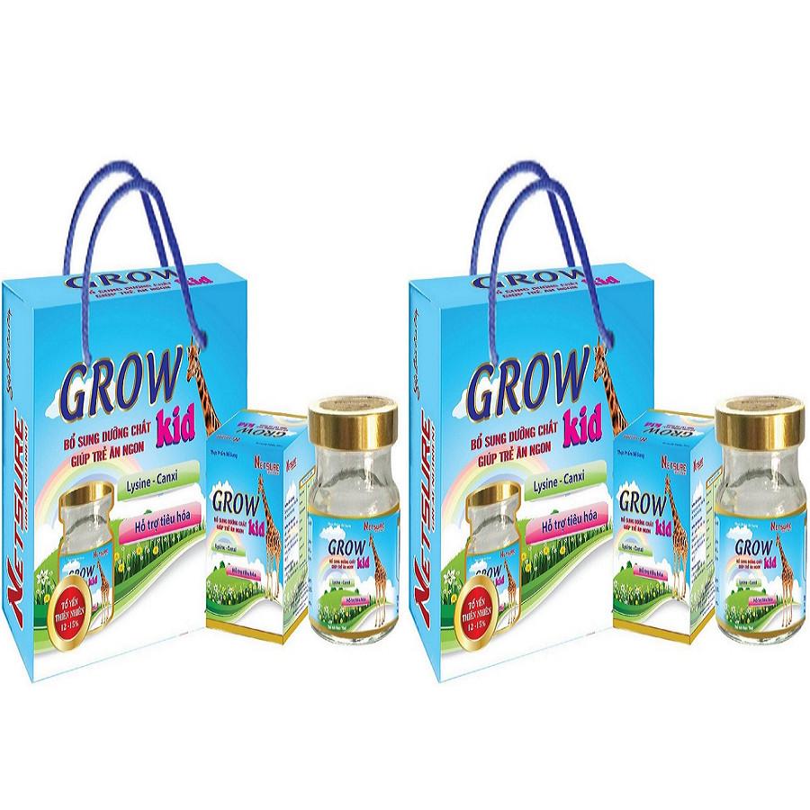 Combo Lốc Yến Netsure Cao Cấp Grow Kid bổ sung dinh dưỡng (Lốc 6 lọ x 70ml, 12% yến)
