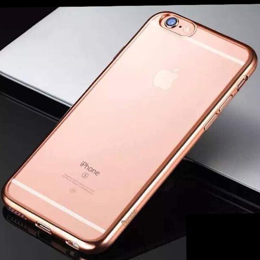 Ốp lưng iPhone 6 Plus / 6s Plus hiệu OU Case TPU viền màu mỏng 1 mm (hàng nhập khẩu)