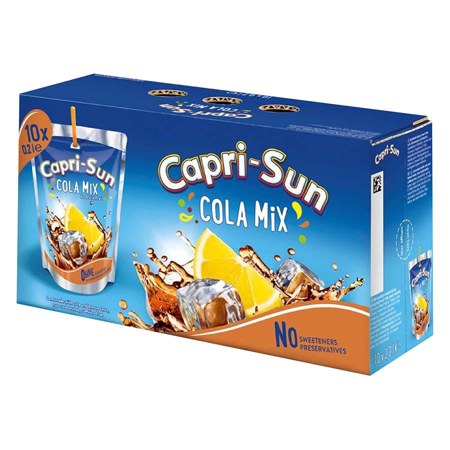 Thùng Nước Trái Cây Capri Sun Vị Cola (200ml x 10)