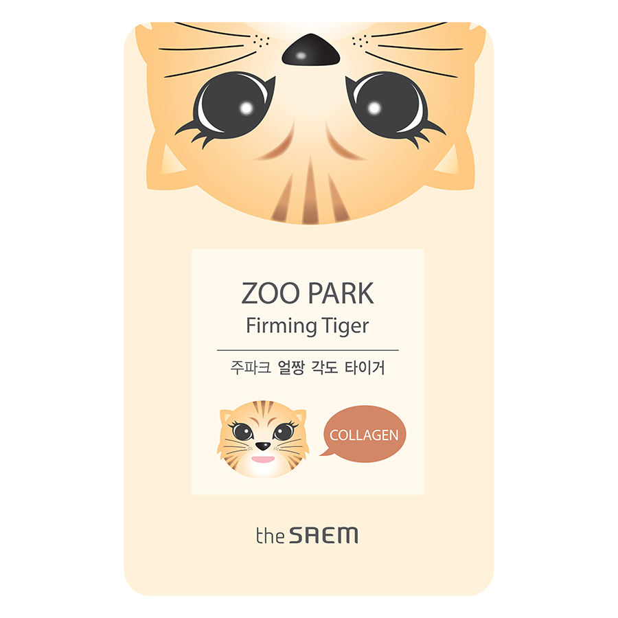 Mặt Nạ Giấy The Saem ZOO PARK Firming Tiger - Collagen (25ml)