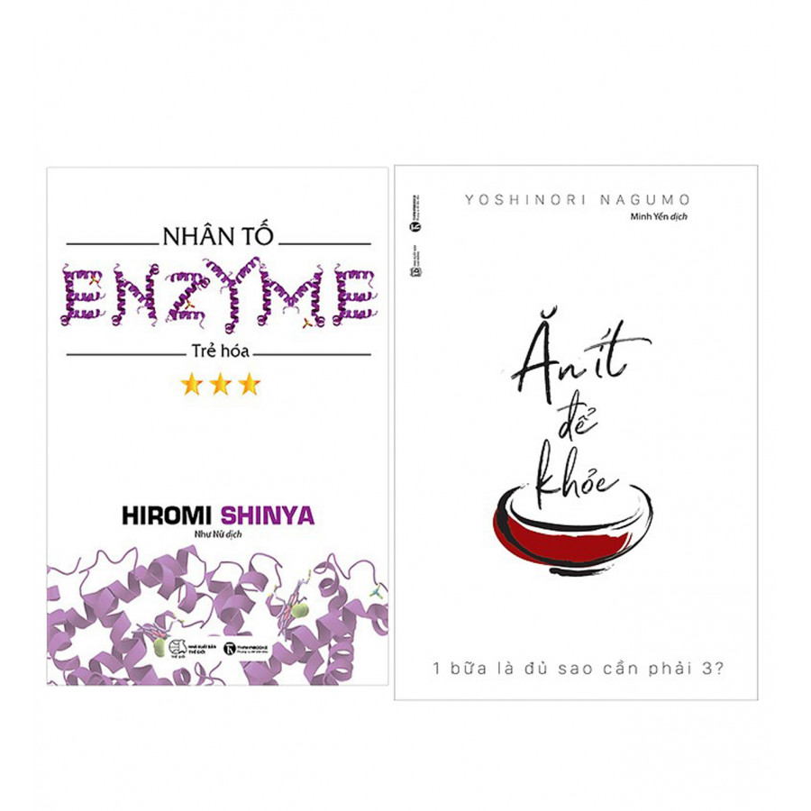 Combo Nhân Tố Enzyme - Trẻ Hóa (Tái Bản) + Ăn Ít Để Khỏe