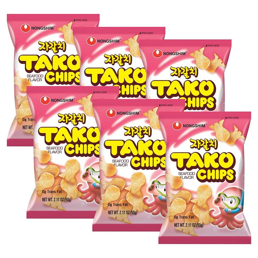 Combo 6 Gói Bánh Snack Tako Nongshim (60g / Gói)