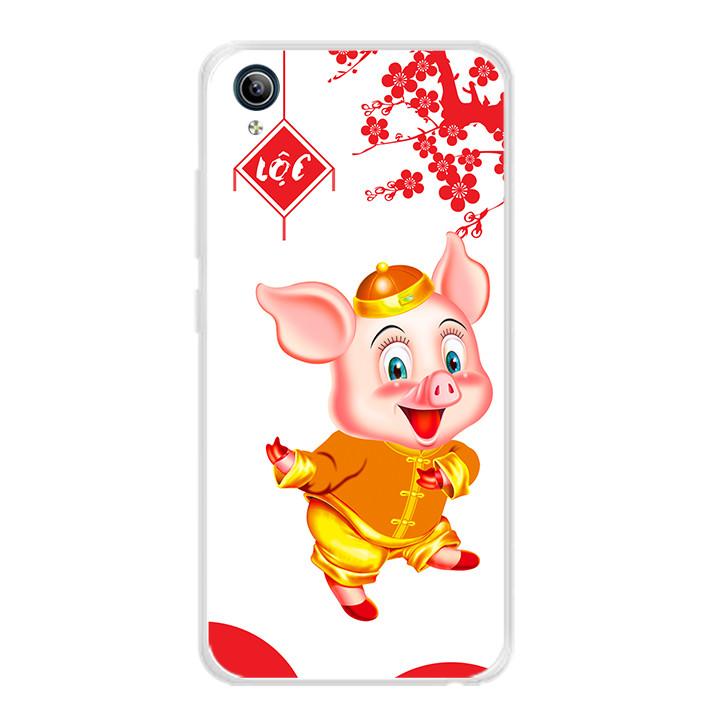Ốp lưng dẻo cho điện thoại Vivo Y91C - 0053 PIG2019 - Hàng Chính Hãng