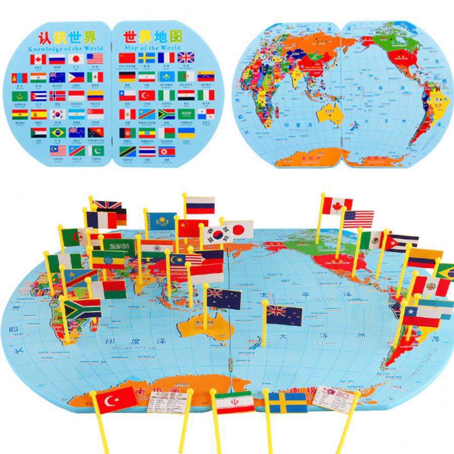 Đồ Chơi Bản Đồ Thế Giới Và Cờ Các Quốc Gia (30 x 24 x 4cm) - 6986033 , 1350385705724 , 62_13194612 , 599000 , Do-Choi-Ban-Do-The-Gioi-Va-Co-Cac-Quoc-Gia-30-x-24-x-4cm-62_13194612 , tiki.vn , Đồ Chơi Bản Đồ Thế Giới Và Cờ Các Quốc Gia (30 x 24 x 4cm)