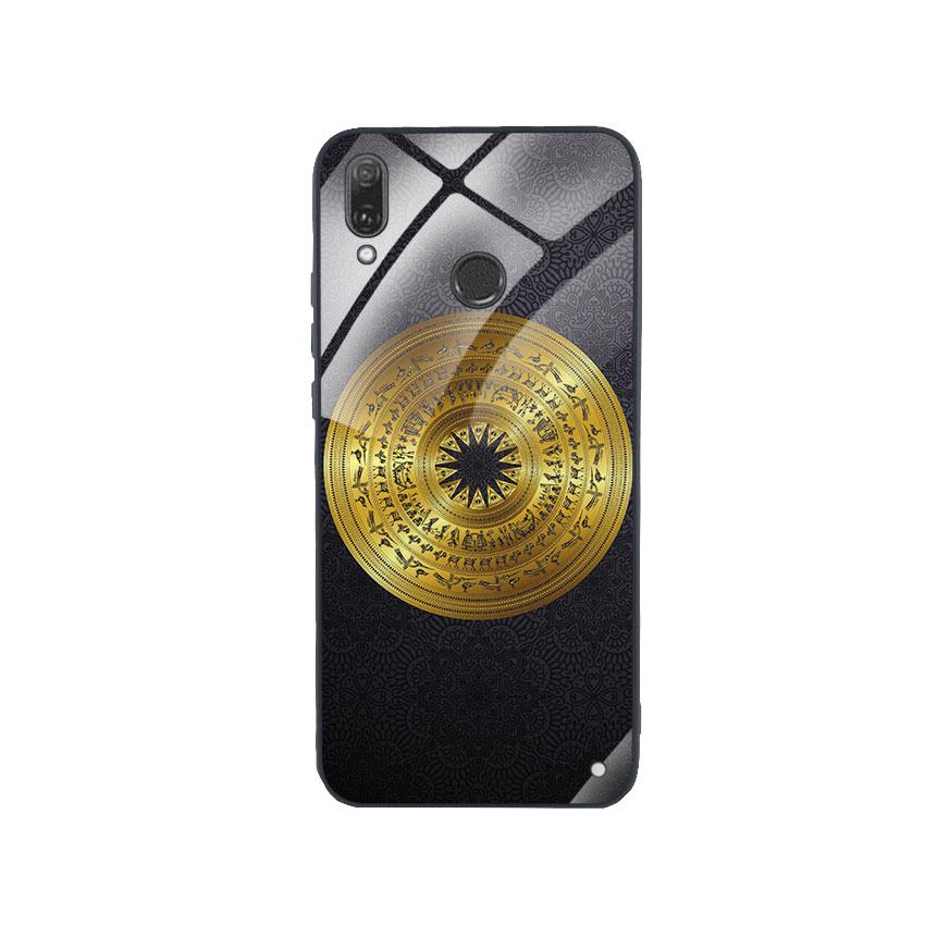 Ốp Lưng Kính Cường Lực cho điện thoại Huawei Y9 2019 - Trống Đồng 05