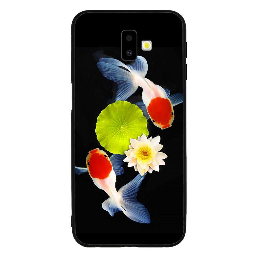 Ốp lưng nhựa cứng viền dẻo TPU cho điện thoại Samsung Galaxy J6 Plus - Cá Koi 04
