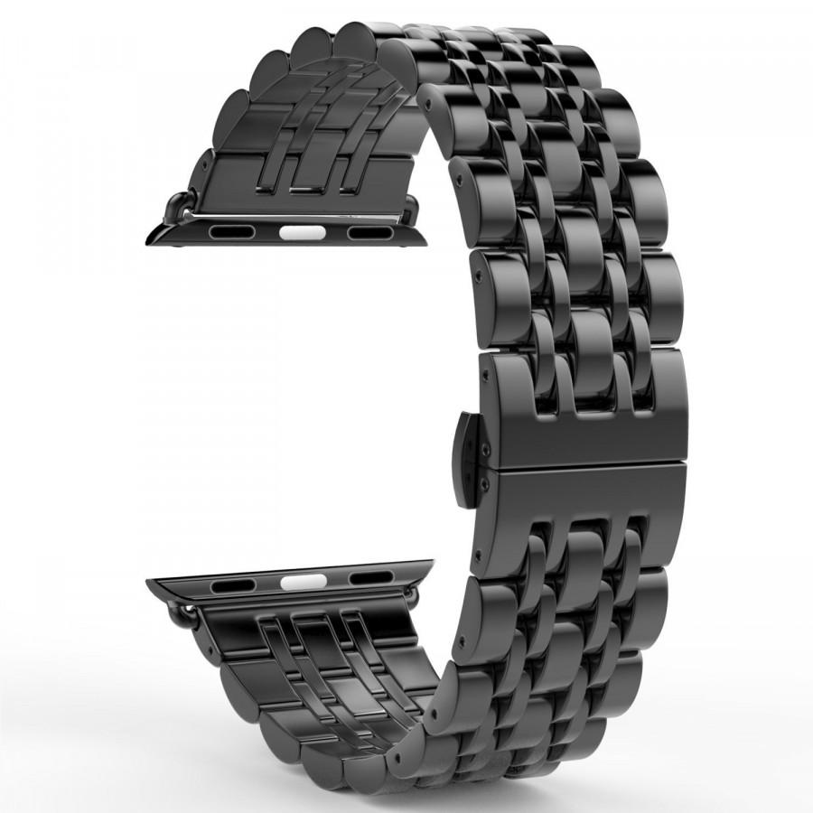 Dây đồng hồ dành cho Apple Watch, Dây mắt xích viền thép không gỉ cho Apple Watch