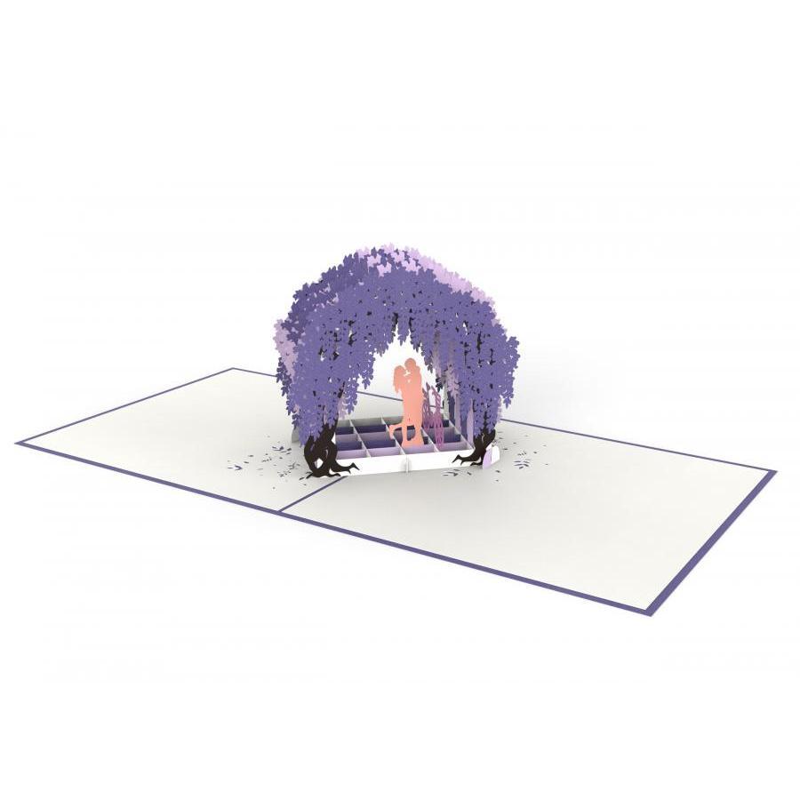 Thiệp 3D pop up Cổng Hoa Tử Đằng