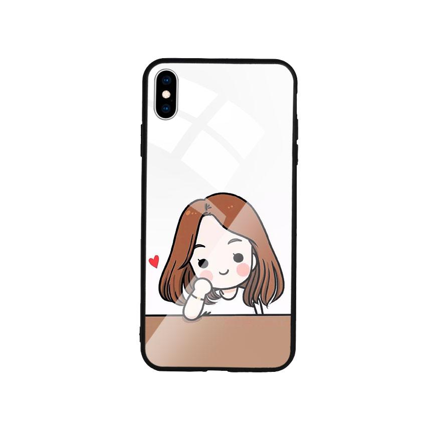 Ốp Lưng Kính Cường Lực cho điện thoại Iphone Xs Max - Couple Girl 03