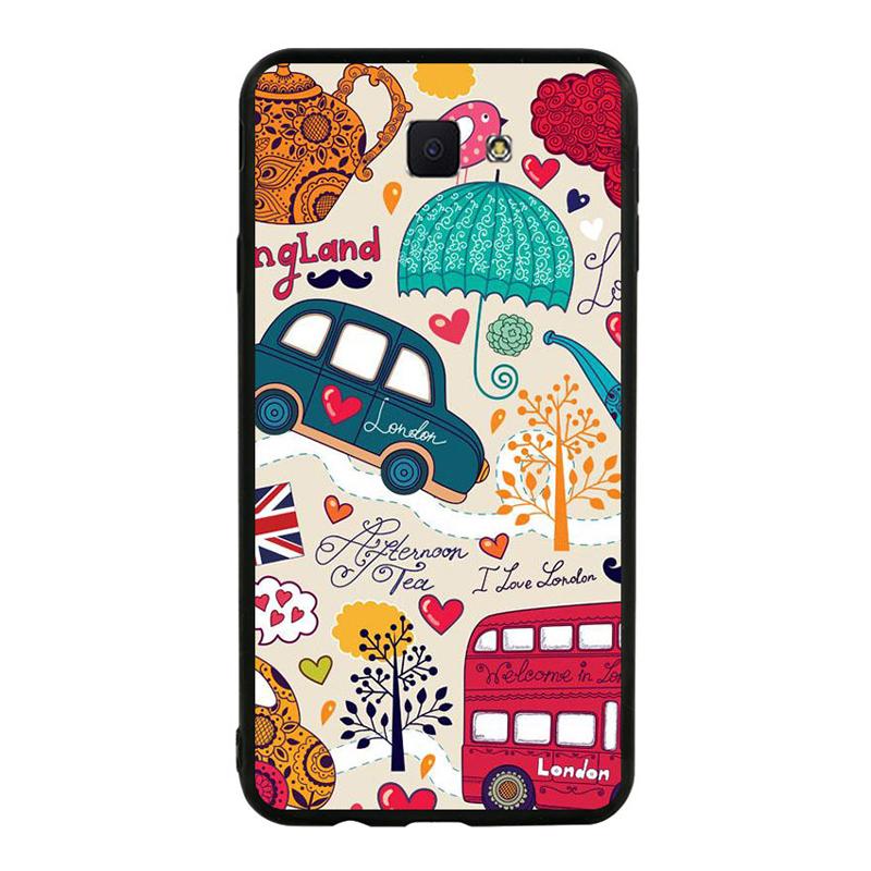 Ốp lưng nhựa cứng viền dẻo TPU Cho Samsung Galaxy J7 Prime - London 01