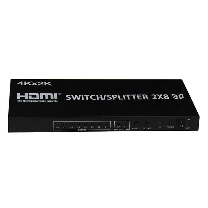 Switch/ Splitter HDMI Vào 2 Ra 8 Tivi Cùng Lúc