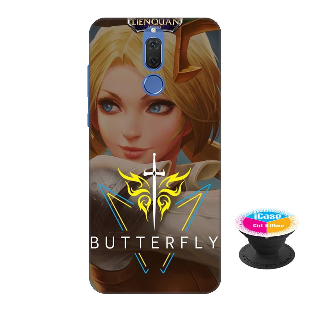 Ốp lưng nhựa dẻo dành cho Huawei Nova 2i in hình Butterfly - Tặng Popsocket in logo iCase - Hàng Chính Hãng
