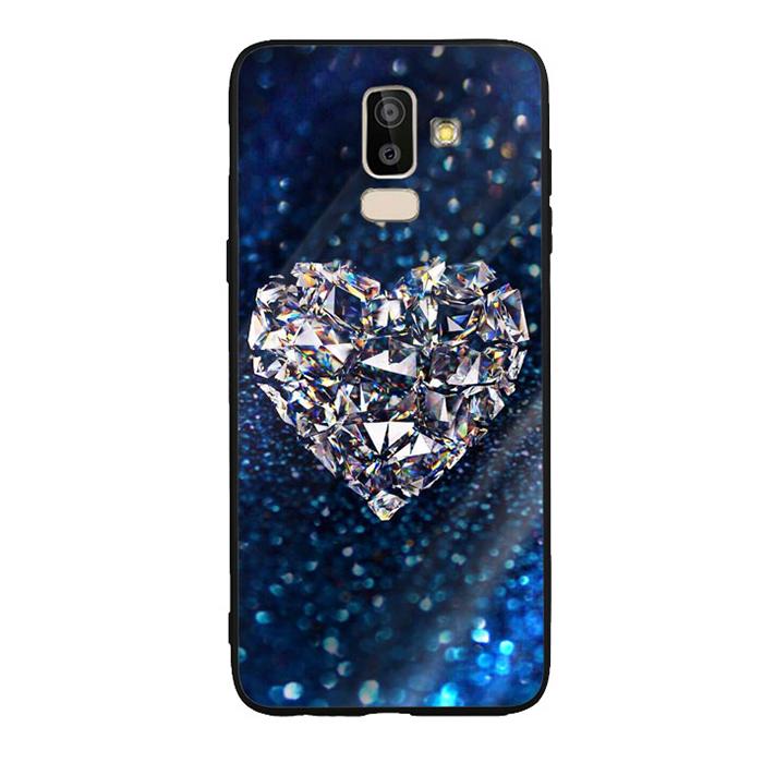 Ốp Lưng Kính Cường Lực cho điện thoại Samsung Galaxy J8 - Heart 11
