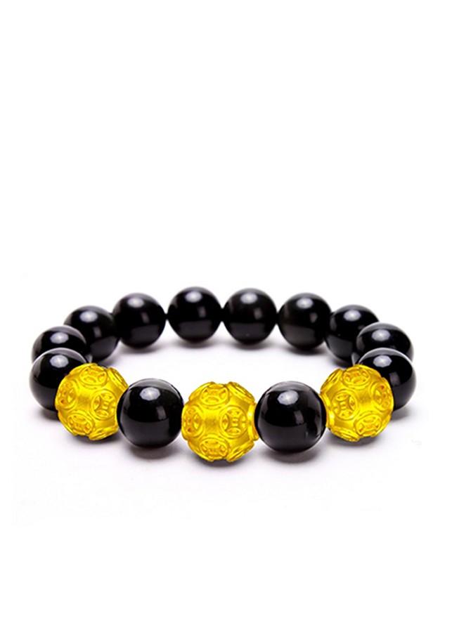 Vòng tay đá thạch anh đen mix hạt tròn vàng MS01, vòng tay phong thủy cho người mệnh mộc, thủy, thổ nam và nữ - 1687772 , 5785261237949 , 62_9312995 , 439000 , Vong-tay-da-thach-anh-den-mix-hat-tron-vang-MS01-vong-tay-phong-thuy-cho-nguoi-menh-moc-thuy-tho-nam-va-nu-62_9312995 , tiki.vn , Vòng tay đá thạch anh đen mix hạt tròn vàng MS01, vòng tay phong thủy ch