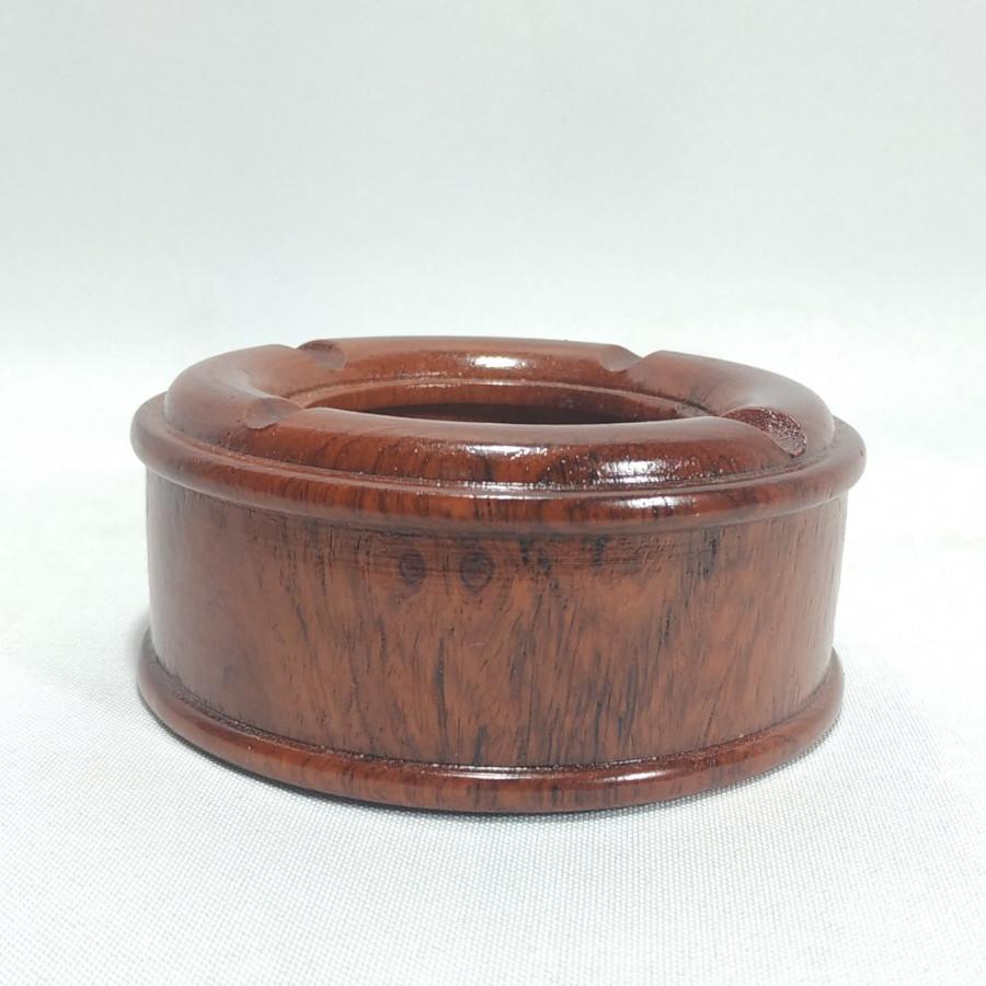 Gạt tàn tiêu trơn bằng gỗ hương
