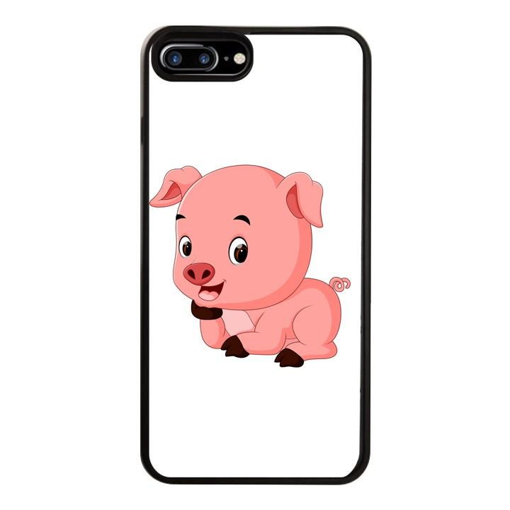 Ốp Lưng Kính Cường Lực Dành Cho Điện Thoại iPhone 7 Plus / 8 Plus Pig Pig Mẫu 1