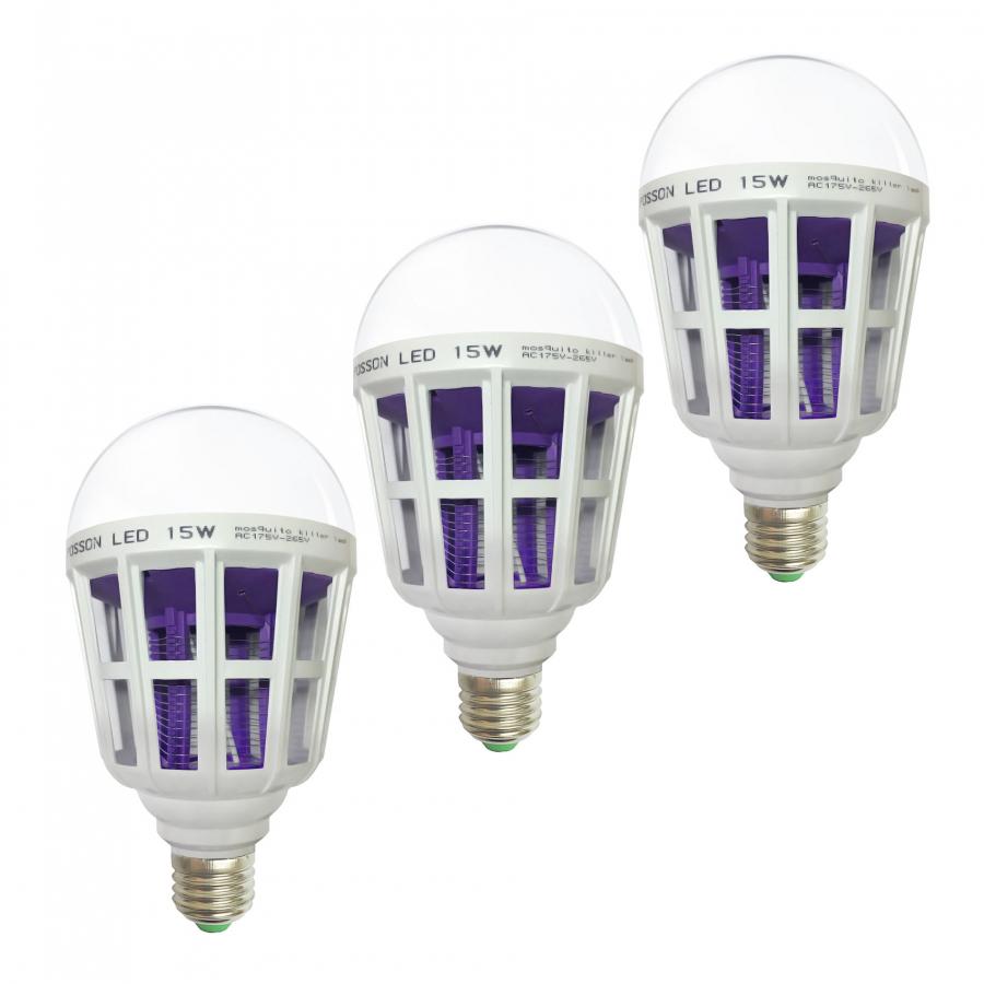 3 Bóng đèn Led chiếu sáng kiêm bắt diệt muỗi 15w tiết kiệm điện Posson LB-MK15 - 1324940 , 6116330921404 , 62_5371761 , 178500 , 3-Bong-den-Led-chieu-sang-kiem-bat-diet-muoi-15w-tiet-kiem-dien-Posson-LB-MK15-62_5371761 , tiki.vn , 3 Bóng đèn Led chiếu sáng kiêm bắt diệt muỗi 15w tiết kiệm điện Posson LB-MK15