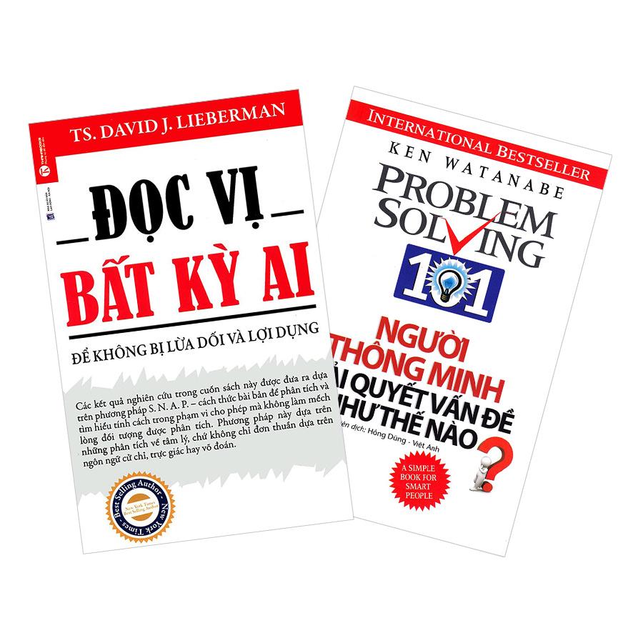 Combo Đọc Vị Bất Kỳ Ai + Người Thông Minh Giải Quyết Vấn Đề Như Thế Nào (2 cuốn)