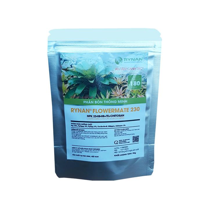 Phân Bón Thông Minh Rynan Flowermate 230 (Túi lọc 90g) - Dùng Cho Các Loại Hoa Kiểng