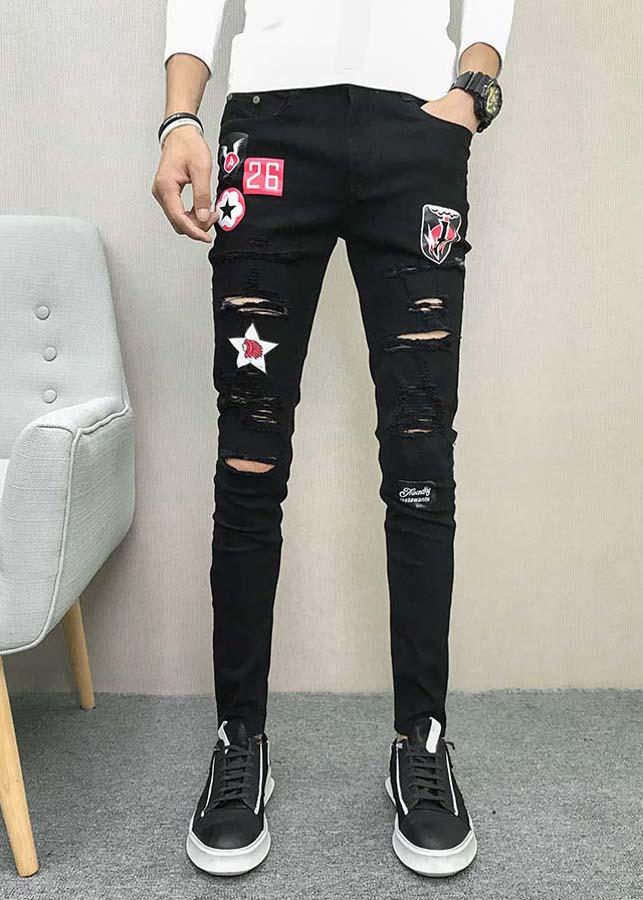 Quần jeans rách logo ngôi sao 26 Mã: ND1331