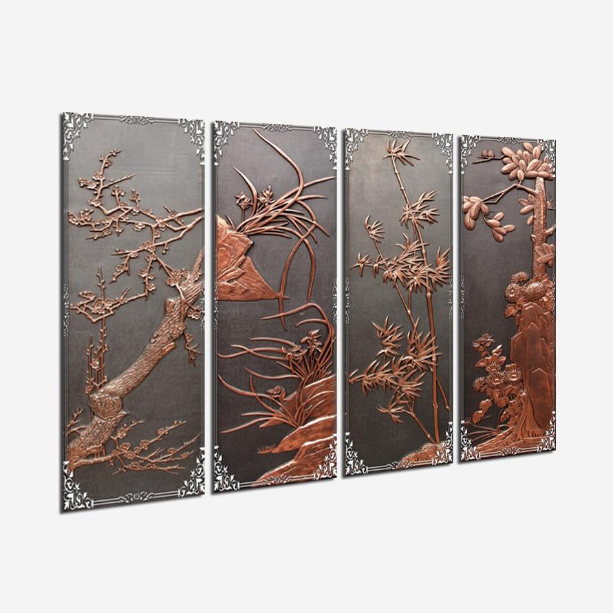 Tranh treo Tường Tứ quý DK05- Tranh treo tường đẹp