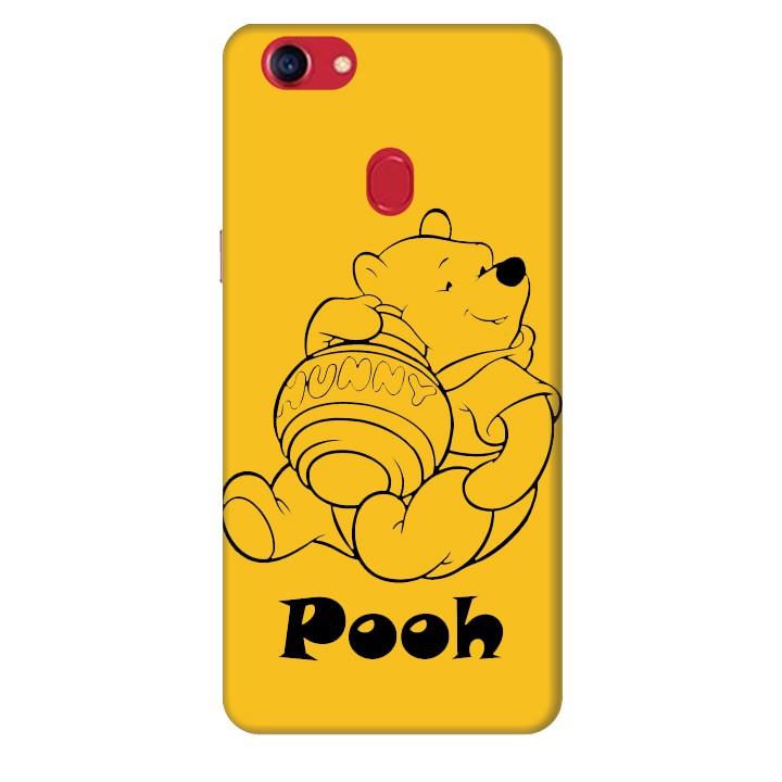 Ốp lưng nhựa cứng nhám dành cho Oppo F7 in hình Pooh