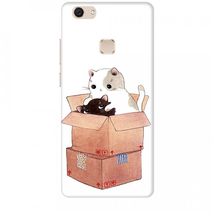Ốp lưng dành cho điện thoại VIVO V7 PLUS Mèo Con Dễ Thương