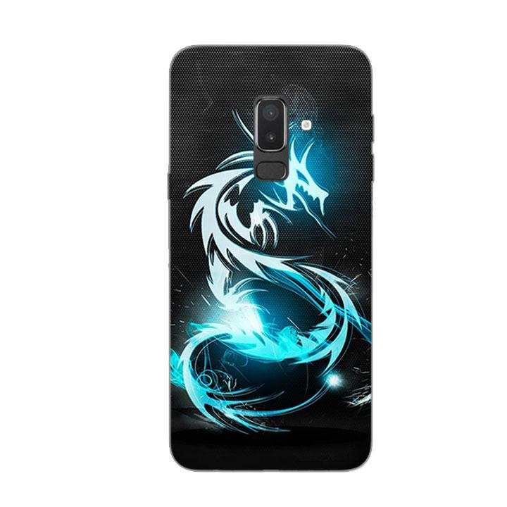 Ốp Lưng Dẻo Cho Điện thoại Samsung Galaxy J8 - Dragon 03