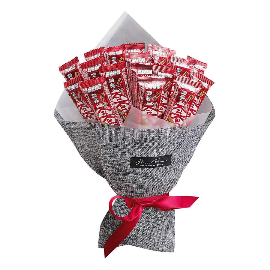 Bó Hoa Chocolate Kit Kat 2F (17g x 18 Thanh) - Giấy Bố Xám - 1271633 , 3448320973135 , 62_10647751 , 419000 , Bo-Hoa-Chocolate-Kit-Kat-2F-17g-x-18-Thanh-Giay-Bo-Xam-62_10647751 , tiki.vn , Bó Hoa Chocolate Kit Kat 2F (17g x 18 Thanh) - Giấy Bố Xám