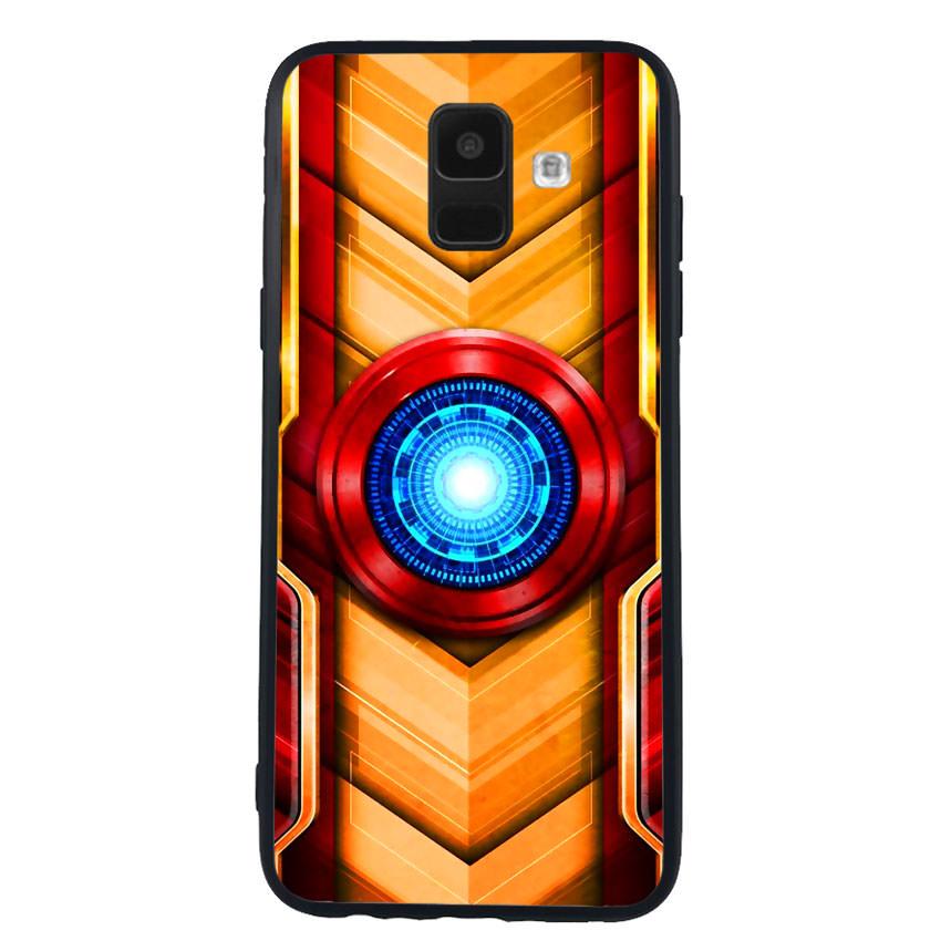 Ốp Lưng Viền TPU cho điện thoại Samsung Galaxy A6 - Iron Man 01