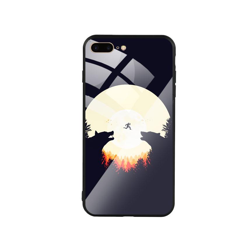 Ốp Lưng Kính Cường Lực cho điện thoại Iphone 7 Plus / 8 Plus -  Moon 05